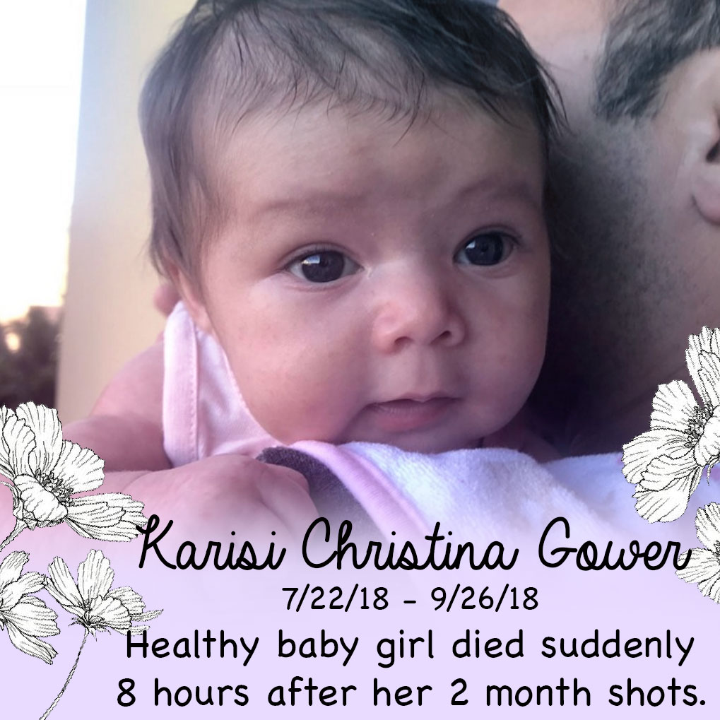Sudden Infant Death 8 Hours After Vaccination: Karisi's Story